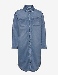 NKFBATORA DNM 1349 SHIRT DRESS - sukienki - light blue denim