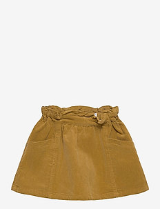 NMFBETRICES CORD A-SHAPE SKIRT CP - spódnice - medal bronze