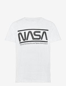 NKMNASA LUCAS SS TOP NOOS  NAS - kurzärmelige - bright white