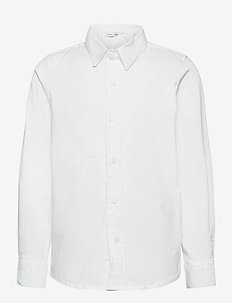 NKMFRED LS SLIM SHIRT NOOS - koszule - bright white