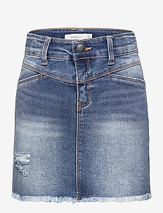 NKFSALLI DNMTECES 2457 SKIRT NOOS - röcke - medium blue denim