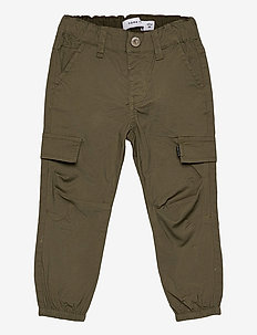 NMMBOB TWITUS CARGO PANT NOOS - trousers - ivy green