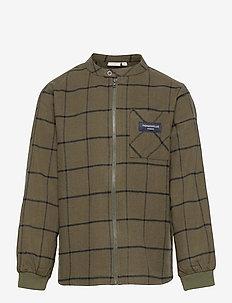 NKMBAISON LS OVERSHIRT - skjorter - ivy green