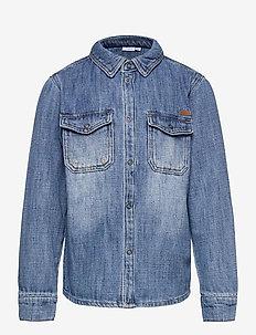 NKMAGIL DNM 1351 LS SHIRT - skjortor - light blue denim