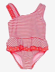 NMFZANANA SWIMSUIT - swimsuits - fiery coral