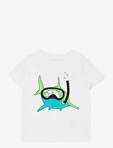 NMMZHARKINO SS TOP - t-shirts - bright white