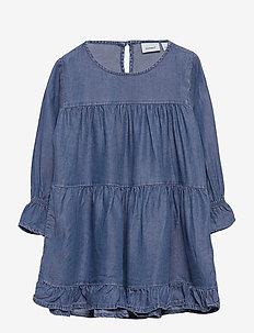 NMFTEETEE LS DRESS - kleider - dream blue