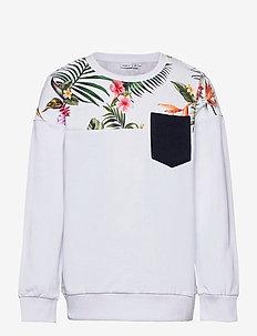 NKMFAKIR LS SWEAT UNB - sweatshirts - bright white