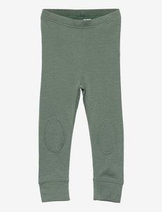 NMMWILLOW WOOL LONGJOHN XXI - leggings - duck green