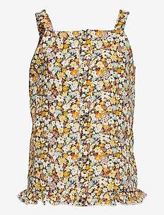 NKFHISSINE SL TOP - t-shirts - persimmon