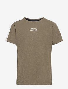NKMHAILOM SS TOP - t-shirts - ivy green