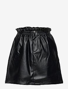 NKFLUSARA PU SKIRT - röcke - black