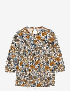 NMFLALISA SWEAT DRESS UNB - kleider - whitecap gray