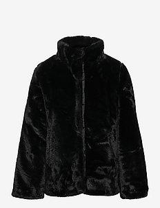 NKFMALSI FAUX FUR JACKET PB CAMP - faux fur - black