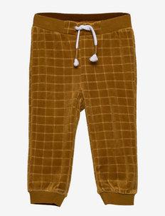 NBMLENNON VEL PANT - trousers - cumin