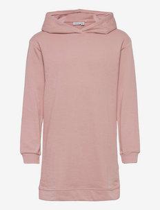 NKFKISIA LS SWEAT TUNIC UNB - hoodies - pale mauve