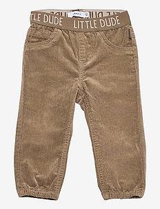 NBMBOB CORDBAC PANT DL - trousers - stone gray