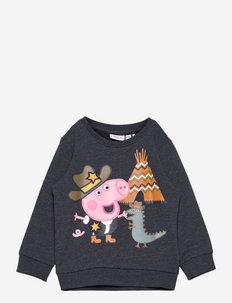 NMMPEPPAPIG TOBY SWEAT UNB PEP - sweatshirts - dark sapphire