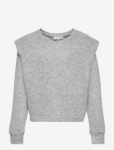 NKFNILINE LS KNIT - pullover - light grey melange