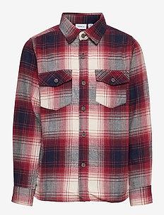 NKMOMOK LS SHIRT - shirts - chili oil