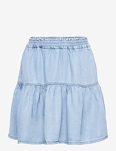 NKFBECKY DNMATHIT 1509 SKIRT - röcke - light blue denim
