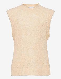 NKFSERINA KNIT VEST - knitwear - whitecap gray