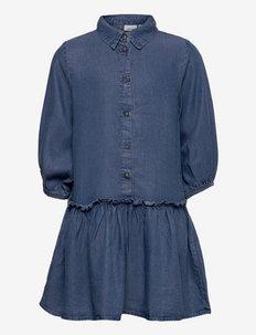 NKFNASANNE LS DRESS - kleider - medium blue denim