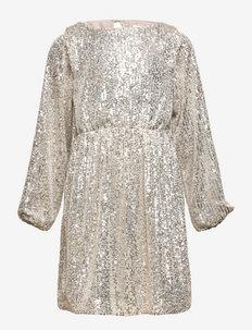 NKFRANTELA LS DRESS - kleider - silver colour