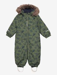 NMMSNOW10 SUIT DINO - snowsuit - thyme