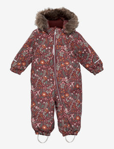 NMFSNOW10 SUIT FLOWER - snowsuit - red mahogany