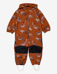 NMMALFA SUIT FOX FO - shell coveralls - bombay brown