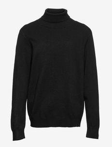 NKMRALOS LS ROLLNECK KNIT - pullover - black