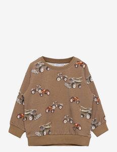 NMMNEBUS LS BOXY SWE BRU - sweatshirts - sepia tint
