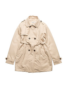 NKFMAIKEN TRENCH COAT - WARM SAND