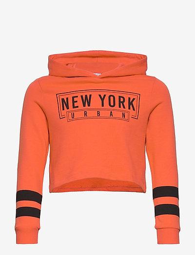 NKFVIALA LS CROPPED SWE  WH UNB K - hoodies - tigerlily