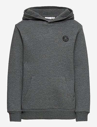 NKMOLSON SWEAT WH UNB NOOS - hoodies - dark grey melange