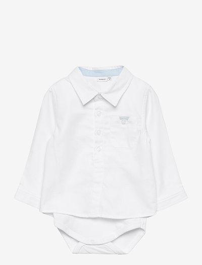 NBMFINWHALE LS SHIRT BODY BOX - lange mouwen - bright white