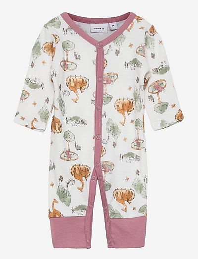 NBFWILLU WOOL LS NIGHTSUIT PRE - pyjamas - snow white