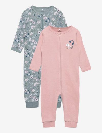 NBFNIGHTSUIT 2P ZIP PALE MAUVE NOOS - pyjamas - pale mauve