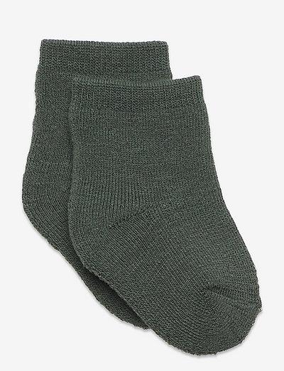 NBMWAKSI WOOL TERRY SOCK - sokken - duck green