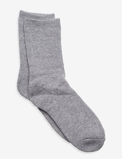 NKFWAKSI WOOL TERRY SOCK - sokken - grey melange