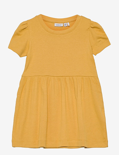 NMFHANILLA SS DRESS - dresses & skirts - ochre