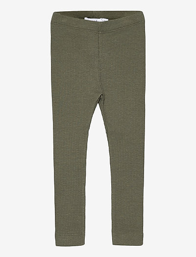 NMFHANILLA LEGGING - leggings - deep lichen green