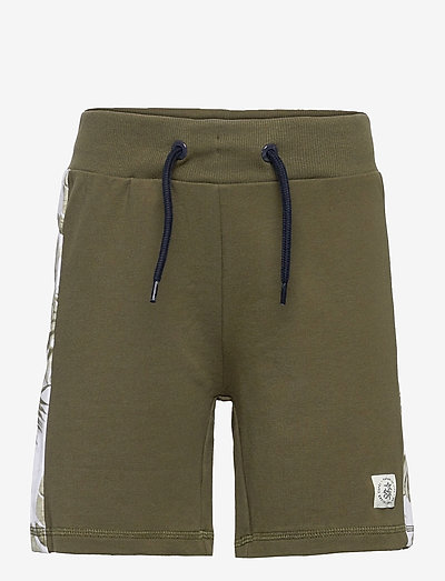 NKMHANRY SWEAT SHORTS UNB - shorts - ivy green