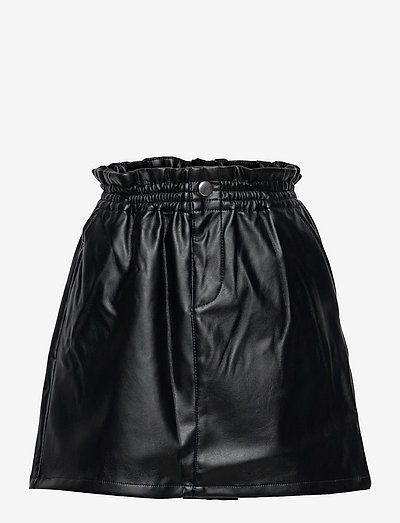 NKFLUSARA PU SKIRT - nederdele - black