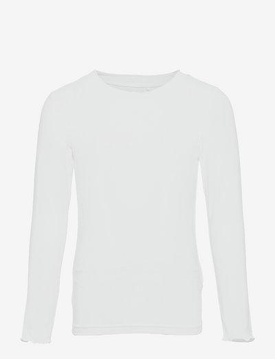 NKFLIKKA LS SLIM TOP - langärmelig - bright white