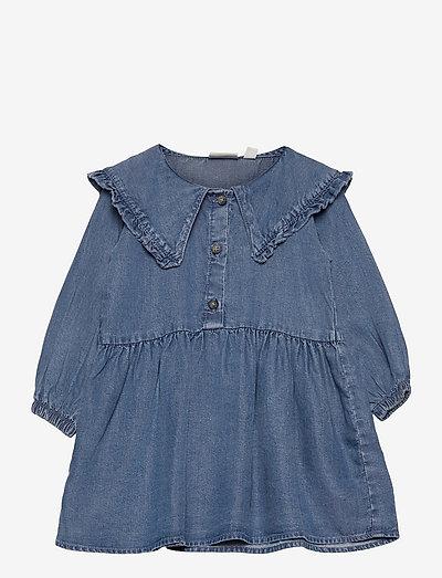 NMFNASANNE LS DRESS - kleider - medium blue denim