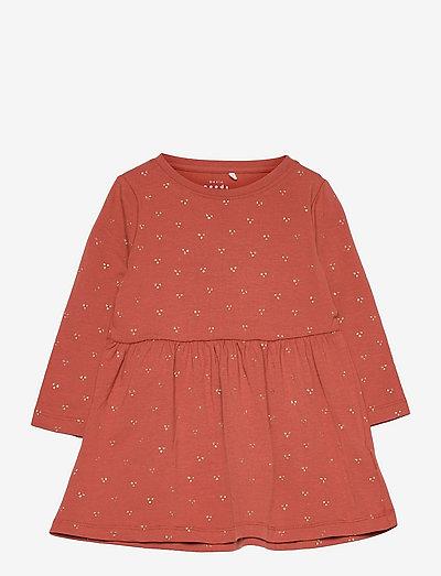 NMFVIVIAN LS DRESS N - jurken & rokjes - etruscan red