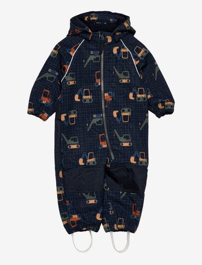 NMMALFA SUIT CRANE FO - sets & suits - dark denim