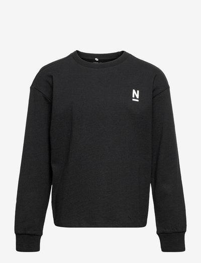 NKMNOMALDO LS TOP - sweatshirts - black